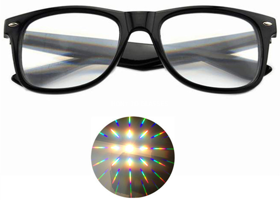 China Ultimate Diffraction Glasses - 3D Prism Effect EDM Rainbow 3D Style Rave Glasses distributor