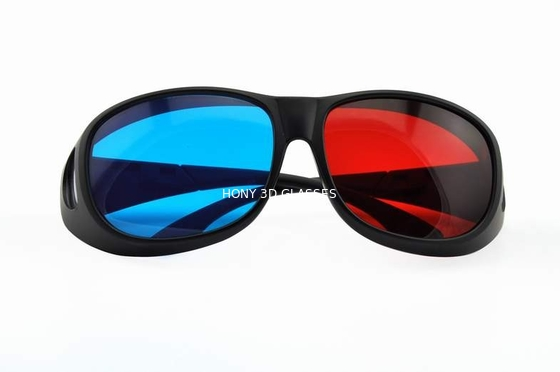 China Foldable Plastic Red Cyan 3D Glasses For Normal Tv Or Computer distributor