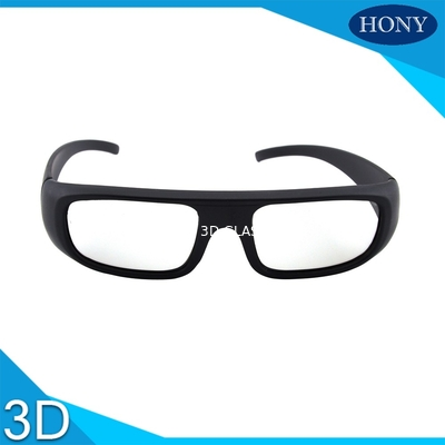 China Movie Theatre Glasses 3D Passive Washable Anti Scratch Thick Circular Polarized Lens factory