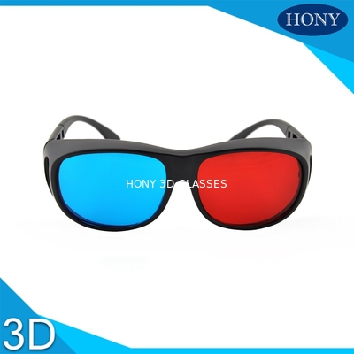 China Adult Size Red Cyan 3D Glasses Thick Lenses Customized Frame Color factory