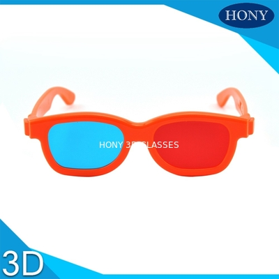 China Kids / Adult Anaglyph 3D Glasses Red Cyan Light Weight 150 * 48 * 165mm factory