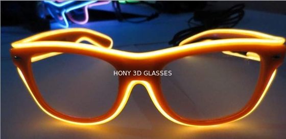 China High Brightness Orange El Wire Glasses For Party Show With Pc Plastic Frame distributor