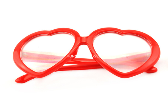China Red Frame Plastic Diffraction Glasses For Night Club , Dance Event distributor