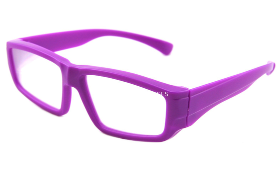 China Purple Plastic Diffraction Glasses Use 0.35mm Thickness Lens distributor
