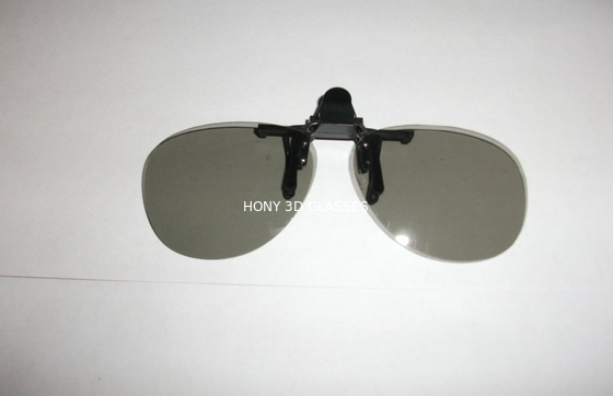 China Clip On Plastic Circular Polarized 3D Glasses Efficiency 99.7% factory
