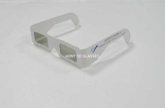 China Paper Frame Circular Polarized 3D Glasses For Reald Or Masterimage System distributor