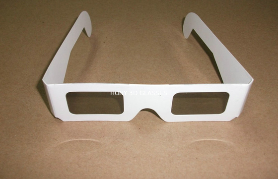 China Paper Cardboard Circular Polarized 3D TV Glasses Red Cyan At Home distributor