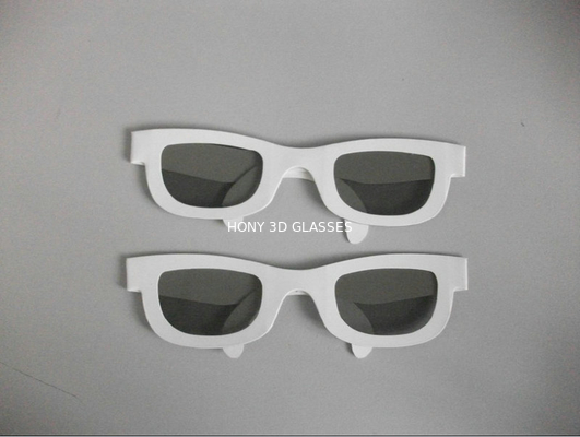 China Disposable Paper Cardboard Circular Polarized 3D Glasses For TV Or Computer distributor