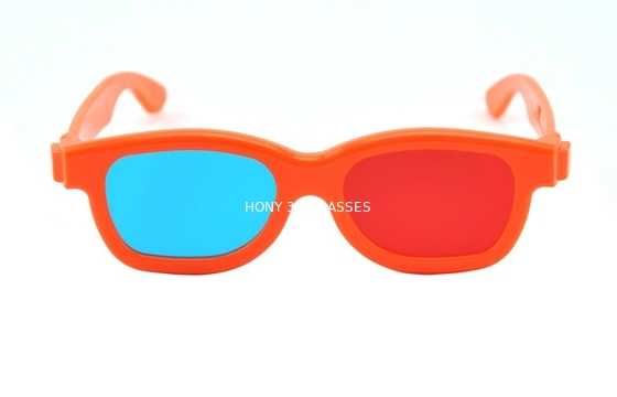 China Children Plastic Red Cyan 3D Glasses , polarized 3d red cyan glasses distributor