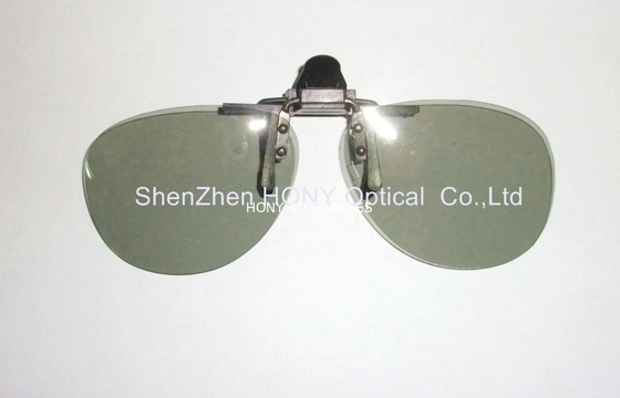 China Plastic Clip On Circular Polarized 3D Glasses With No Bubble Anti Scratch factory