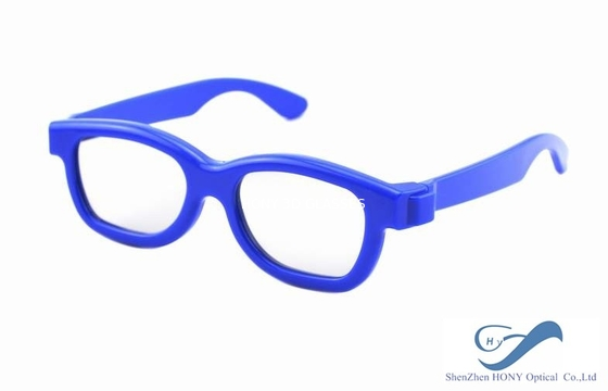 China Blue Frame Reald 3D Polarized Glasses Circular For Kids And Adult distributor