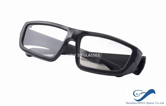 China Cheap Plastic Reald 3D Polarized Glasses With Black Color For Cinema Using distributor