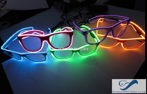 China Popular El Wire Glasses Diffraction Effect Lens For Watching Fireworks distributor