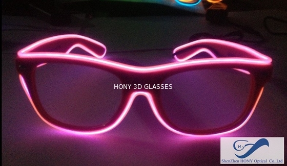 China Shining Plastic El Wire Glasses Colorful Frames For Christmas Festival Party distributor