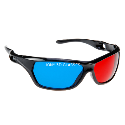 China Anaglyph Plastic Red Cyan 3D Glasses Passive For Watching Movie distributor