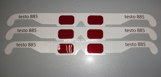 China Disposable Paper 3D Decoder Glasses With Red Lens OEM ODM distributor