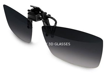China Plastic Circular Polarized Clip On 3d Glasses For Theaters Flicker Free distributor