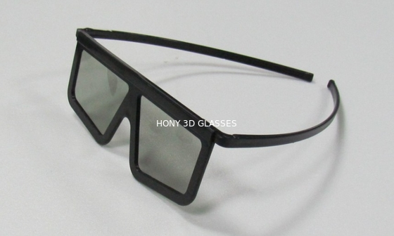 China ABS Plastic Frame Linear Polarized 3D Glasses / Movie Eyewear factory