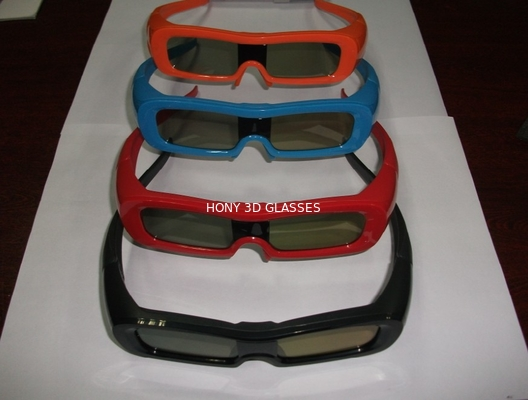 China Colorful Universal Active Shutter 3D Glasses For TV Water Proof distributor