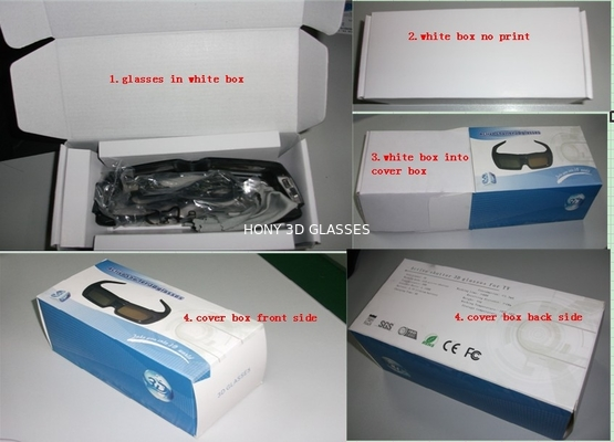 China Bluetooth Active Shutter 3D TV Glasses , Infrared Samsung 3D Glasses distributor