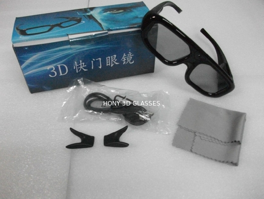 China Samsung Active Shutter 3D TV Glasses Plastic Eyewear For Home Theater distributor