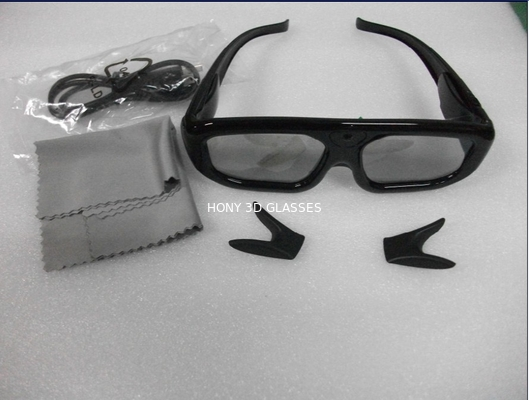 China Infrared Panasonic Active Shutter 3D TV Glasses Lithium Battery Powered distributor