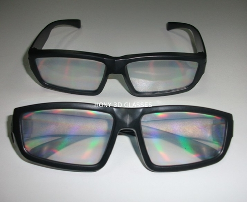 China Promotional powerful rainbow 3d fireworks glasses , reusable 3d glasses factory